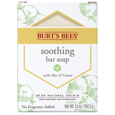 Soothing Bar Soap with Aloe &  Cotton