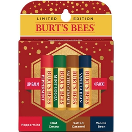 Limited-Edition Holiday 4-Pack Lip Balm Gift
