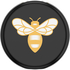 show PopGrip Lips x Burt's Bees -  Bee Logo Black