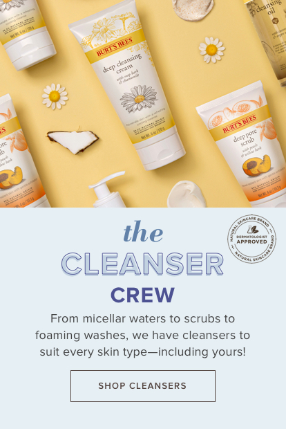 The Cleanser Crew. From micellar waters to scrubs to foaming washes, we have cleansers to suit every skin type - including yours!