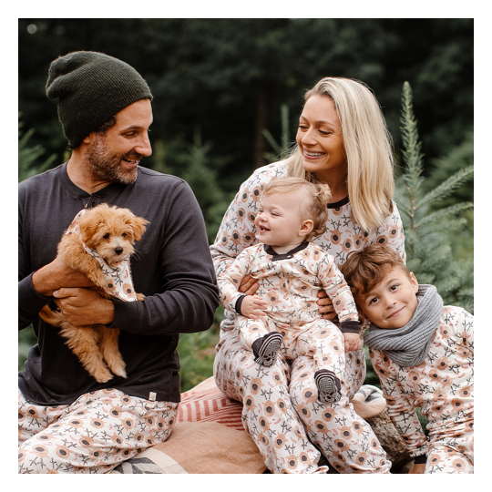 Celebrate the season with festive pjs, available in sizes for the whole family!